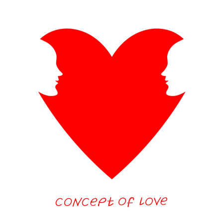 Icon of love. Vector illustration, metaphor of passion. Template for Valentines day.