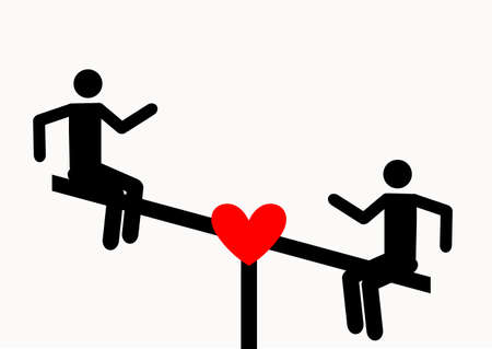 Love on a swing. Playground symbol for download. Vector icons for video, mobile apps, Web sites and print projects.