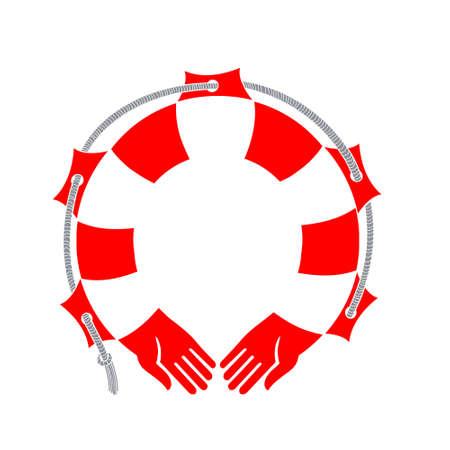 Hands-a lifeline. Vector illustration