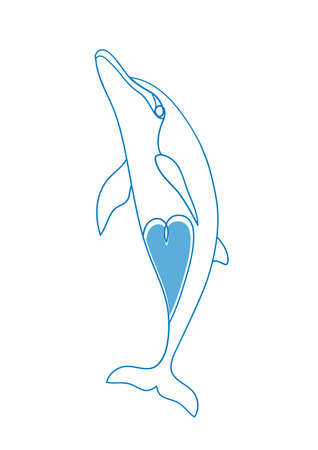 Sketch of a Dolphin.