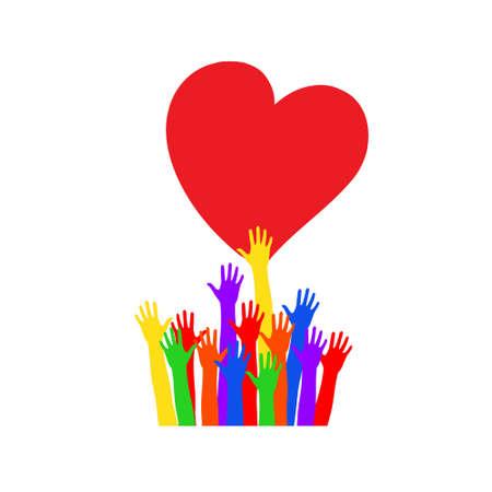 優しさと慈愛の象徴ベクトルイラスト
