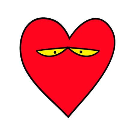 Sad heart. Heart Emoticon. Emoji.