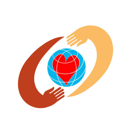 hands with earth, people of the world holding the globe,