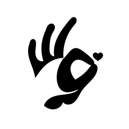 OK hand sign. Isolated on white background. Illustration