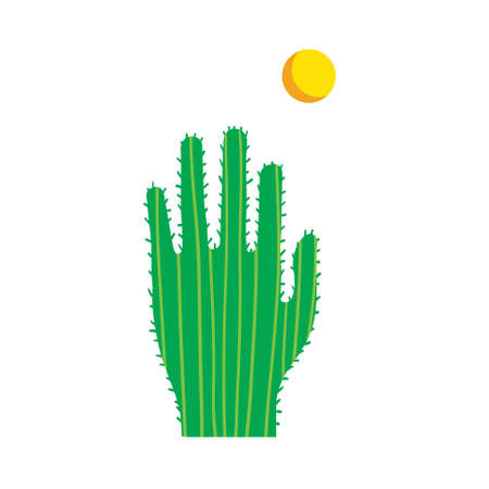 Cactus in the shape of the hand. Standard-Bild - 132595282