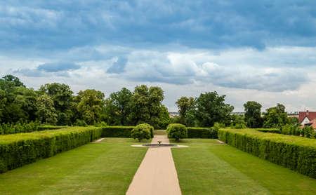 austerlitz: Castle garden around Brno Czech Republic Editorial