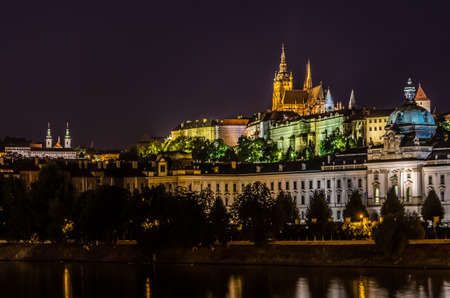 most: Prague view in night Stock Photo
