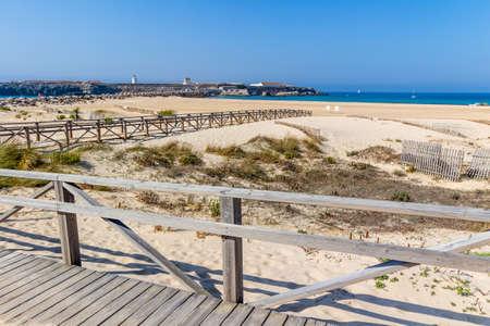 tarifa: Tarifa beach on the ocean, Cadiz, Spain Stock Photo