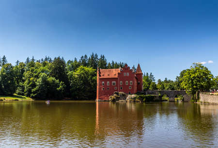 chateau: The red chateau  castle Cervena Lhota in the Czech Republic