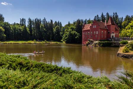 The red chateau  castle Cervena Lhota in the Czech Republic