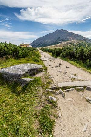 krkonose: Mountain path in the national park Krkonose Stock Photo
