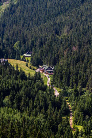 krkonose: Beautiful housecabin in Krkonose mountains in Czech republic