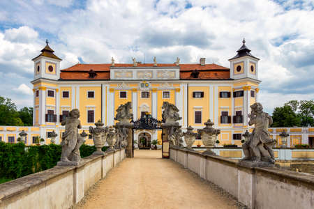 Milotice Castle called pearl of South Moravia, is a uniquely preserved complex of baroque buildings and garden architecture. Czech Republic