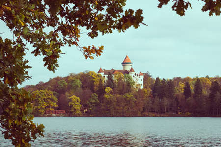 moravia: Medieval Castle in Konopiste with vintage look, Czech Republic