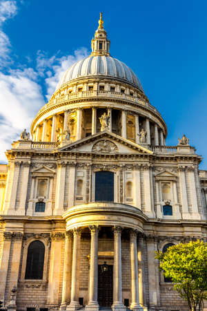 St Pauls cathedral at golden hour in London, England