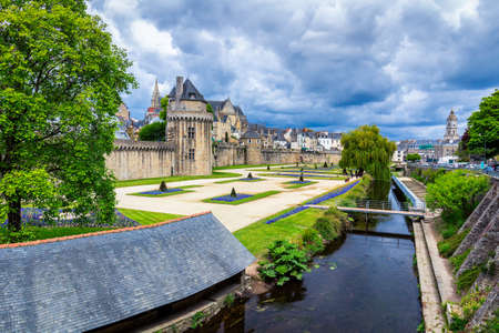 The historic city of Vannes in Brittany (Bretagne), France Banco de Imagens - 81906628