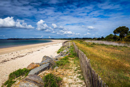 Beach of Landrezac, Sarzeau, Morbihan, Brittany (Bretagne), France
