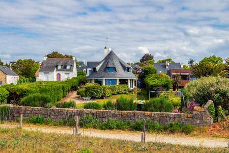 Landrezac, Sarzeau, Morbihan, Brittany (Bretagne), 프랑스의 해변 스톡 콘텐츠