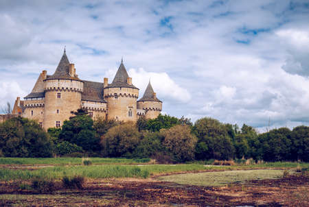 Panoramic View Of Chateau De Suscinio Medieval Castle A Former Fortress Hunting Lodge