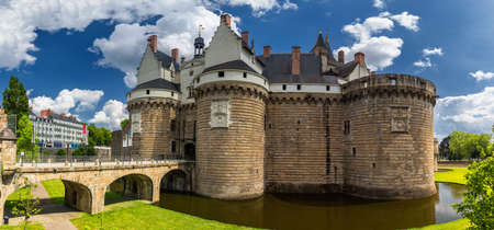 Castle of the Dukes of Brittany (Chateau des Ducs de Bretagne) in Nantes, France Zdjęcie Seryjne - 86074883