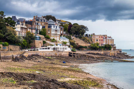 The magnificent old city of Dinard. Concept of Europe travel, sightseeing and tourism. Brittany (Bretagne), France