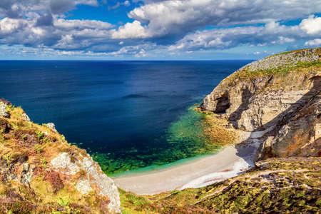 Cap de la Chevre and sea coast in Brittany (Bretagne), France.