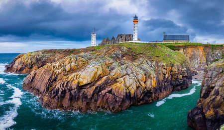Lighthouse Pointe de Saint-Mathieu, Brittany (Bretagne), France