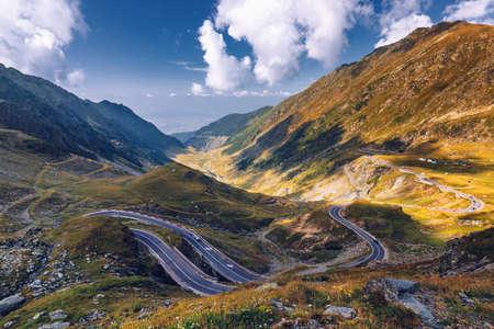Autostrada Transfagarasan, probabilmente la strada più bella del mondo, Europa, Romania (Transfagarashan) Archivio Fotografico - 91859699