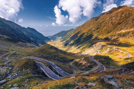 Transfagarasan highway, probably the most beautiful road in the world, Europe, Romania (Transfagarashan) Фото со стока