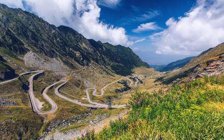 Transfagarasan highway, probably the most beautiful road in the world, Europe, Romania (Transfagarashan) Banco de Imagens