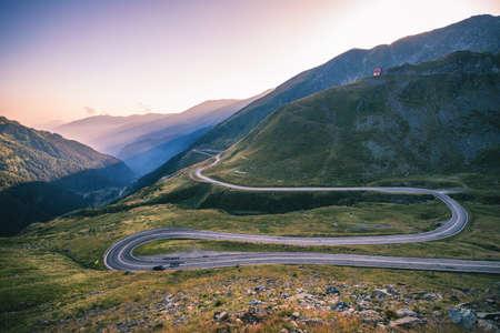 Transfagarasan highway, probably the most beautiful road in the world, Europe, Romania (Transfagarashan) Stock Photo