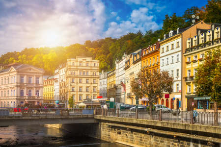 Architecture of Karlovy Vary (Karlsbad), Czech Republic. It is the most visited spa town in the Czech Republic Reklamní fotografie