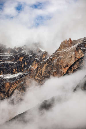 Alpine landscape with Monte Antelao peaks in the Dolomites, Italy, Europe