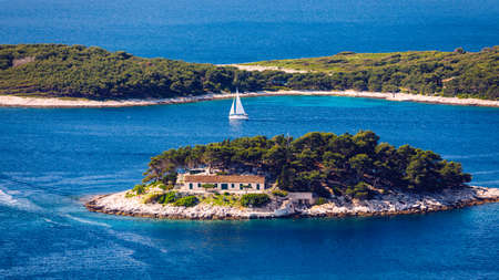 Galesnik island is the first in a row of all Pakleni islands. From this little island there is the most beautiful view at the town of Hvar.