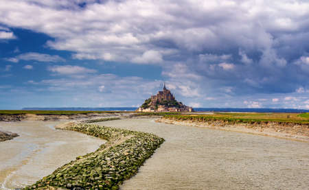Beautiful Mont Saint Michel cathedral on the island, Normandy, Northern France, Europe Zdjęcie Seryjne