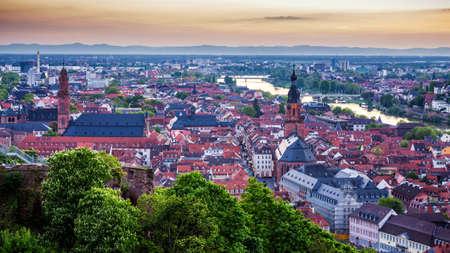 View of beautiful medieval town Heidelberg, Germany 写真素材