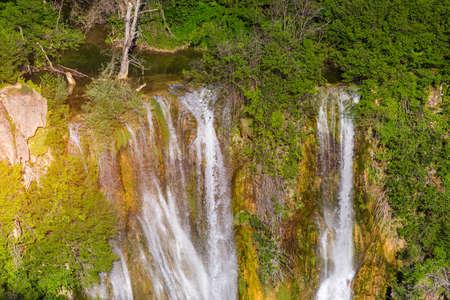 Manojlovac waterfall, Krka National Park, Croatia. Manojlovac waterfall, national park Krka in Croatia. View on the Manojlovac waterfall, near Knin in Croatia, Krka National Park.