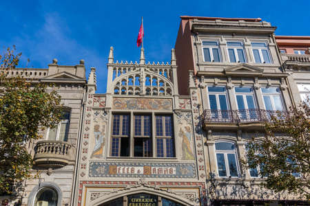 Porto, Portugal - November 17, 2017: View of Livraria Lello bookstore, Porto, Portugal
