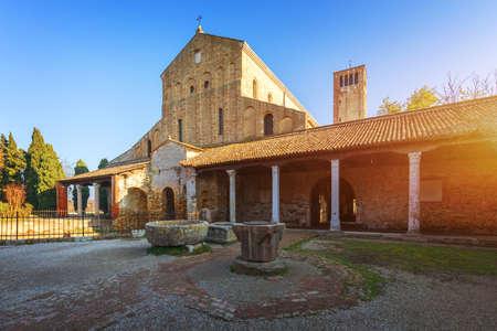 Santa Maria di Assunta cathedral on Torcello island in Venice lagoon, Italy