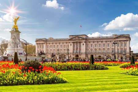 Buckingham Palace in London, United Kingdom. Stok Fotoğraf