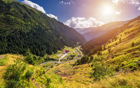 Transfagarasan highway, probably the most beautiful road in the world, Europe, Romania (Transfagarashan) Banque d'images - 137153146