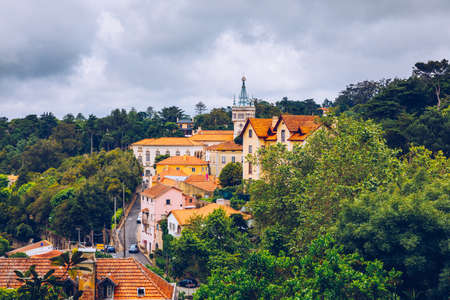 Portuguese city of Sintra, Sintra city near Lisbon. Sintra, Portugal. Imagens - 137153157