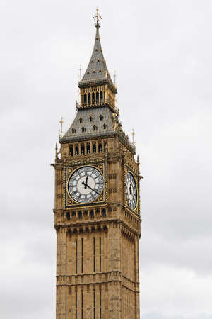 Big Ben, London, UK. A view of the popular London landmark, the clock tower known as Big Ben.