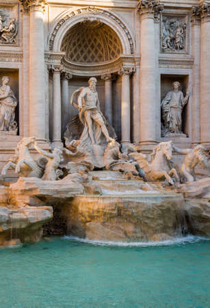 Trevi Fountain (Fontana di Trevi) in Rome. Italy Banque d'images - 138377350