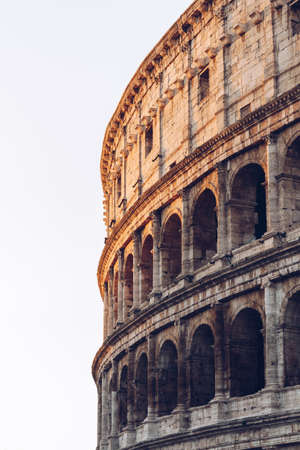 The Colosseum in the morning light. Rome, Italy Banque d'images - 138377681