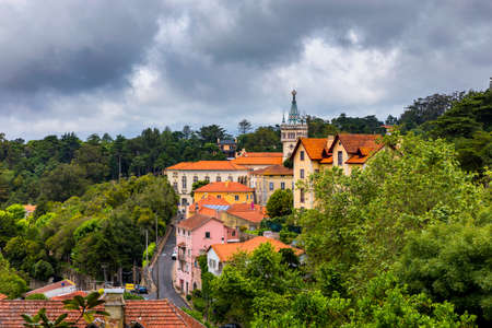 Portuguese city of Sintra, a UNESCO World Heritage Site. Sintra city near Lisbon. Sintra, Portugal.