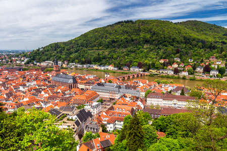 View of beautiful medieval town Heidelberg, Germany Imagens