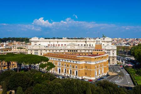 Corte Suprema di Cassazione in Rome, Italy. View from Castel SantAngelo.