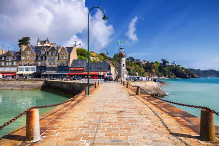 Cancale view, city in north of France known for oyster farming, Brittany.