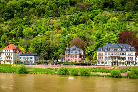 Heidelberg town with the famous old bridge and Heidelberg castle, Heidelberg, Germany Stock fotó